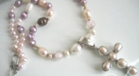 Anita Pearl Cross Necklace