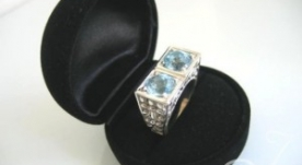 Clarity Sky Blue Topaz Ring