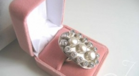 Bling Ring Pearl and CZ Ring