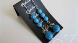 Mykonos Blue Earrings