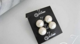 White Bride Pearl Earrings
