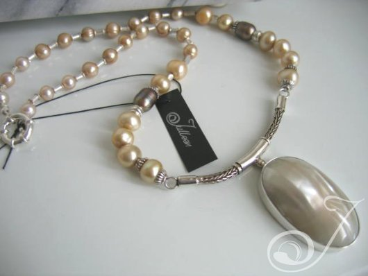 Annie Cream Necklace BPD380-04