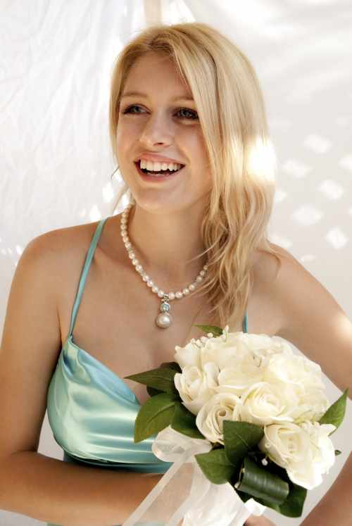 Pearl and mabe Necklace Blue Topaz