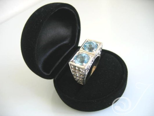 Clarity Sky Blue Topaz Ring RT001