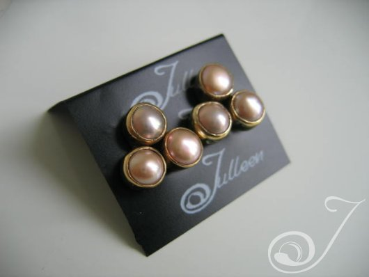 Clip On Shireen Pink Earrings E143D