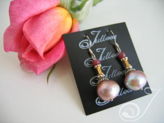 Dahlia Pearl Cluster Earrings E037-25