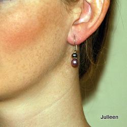Pink Pearl Black Pearl Earring
