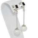 Pearl Garnet Drop Earring