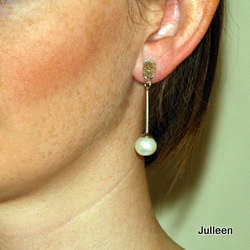Pearl Drop Earring Sterling Silver