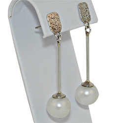 White Pearl Drop Earring Julleen