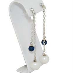 pearl dropearring lapis