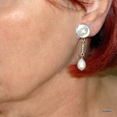 Drop Pearl Earring Clip on