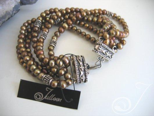Kelly Bronze Pearl Bracelet VO050C_B