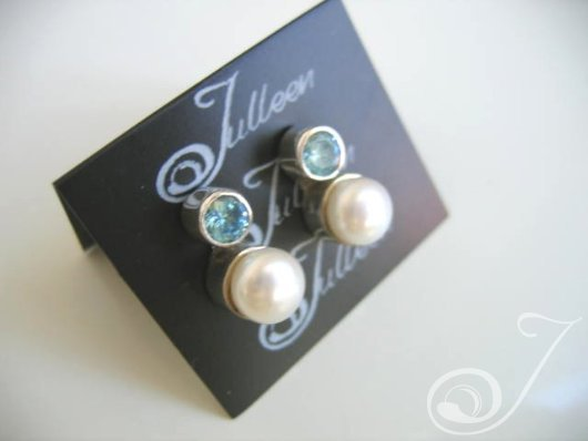 Laura Blue Topaz Earrings E022-04
