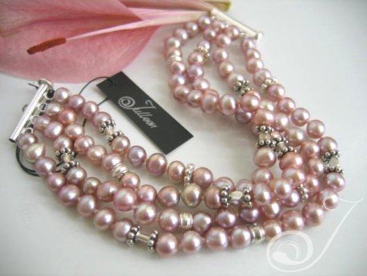Lavender Mist Pearl Cuff Bracelet BR009.02