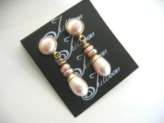 Pink Velvet Earrings E026-02