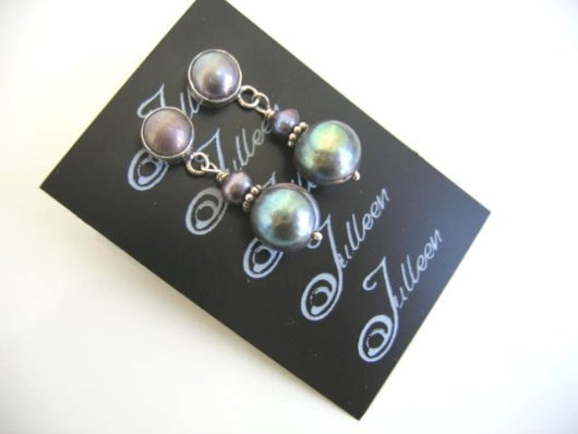 Sarah Pearl Cluster Earrings E026-24