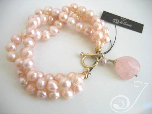 Tessa Pink Pearl Bracelet BR007P_B