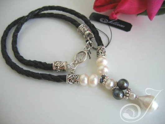 White Rose necklace LB110P-03