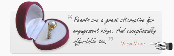 The best engagement rings include pearls