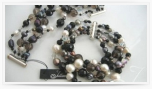 Pearl And Gemstone Bracelets