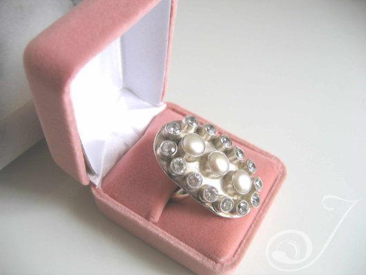 Bling Ring Pearl CZ-Ring RS0011