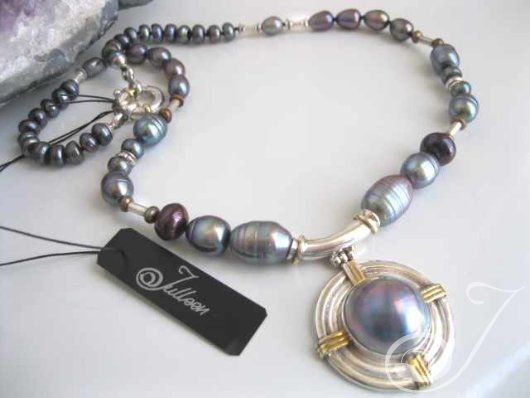 Blue Moon Mabe Pearl Necklace PD211.01