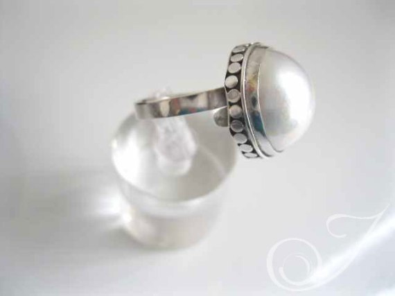 Ring White Dove Mabe RPR005
