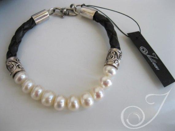 Hayley White Pearl Bracelet LB100A_B