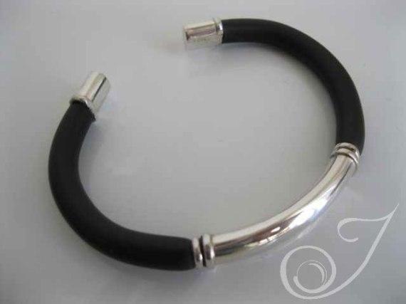 My Guy Black Leather Bracelet UB400_B