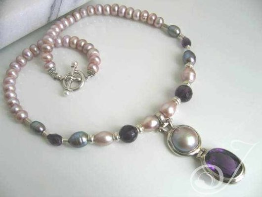 Lavender Lust Amethyst Pendant Necklace PJ301.02