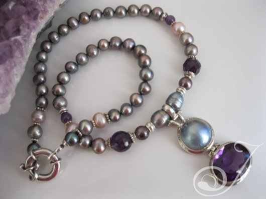 Royal Purple Amethyst- Necklace PJ301.01