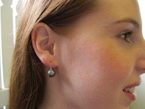 pearl sterling silver earring